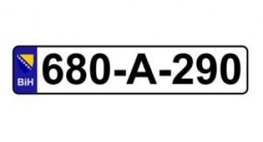 Nove registarske tablice spremne za uporabu