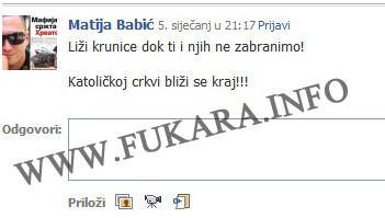 """Matija Babić poručio kako će """"oni"""" zabraniti krunice i uništiti Katoličku crkvu!"""