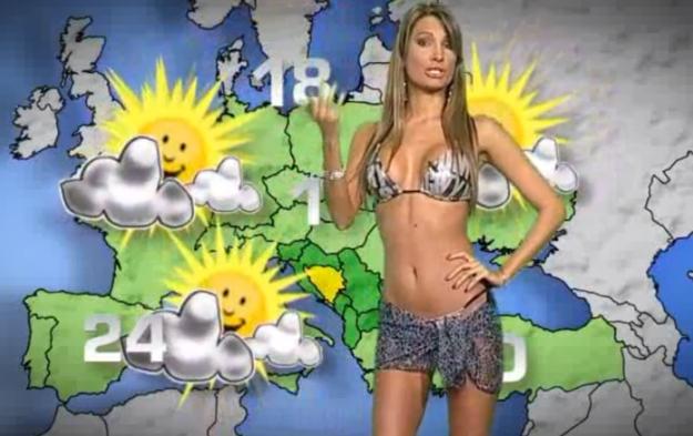 VIDEO:Seksi voditeljica vremenske prognoze na OBN-u skinula se za klik