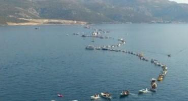 Udruge lađara i branitelja napravile 'Živi most' od kopna do Pelješca