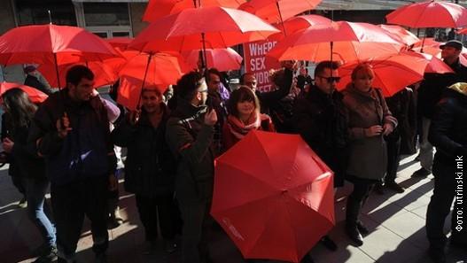 Prosvjed prostitutki u Makedoniji