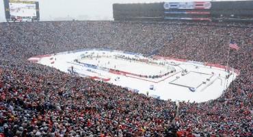 Oboren svjetski rekord: Detroit i Toronto igrali po snijegu pred 105 tisuća gledatelja