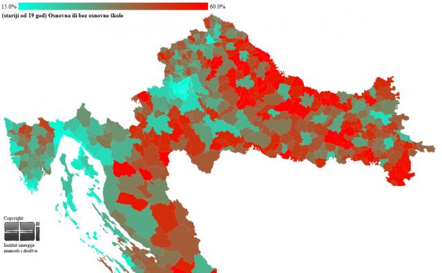 Pogledajte gdje u Hrvatskoj žive najobrazovaniji, a gdje je najviše neobrazovanih