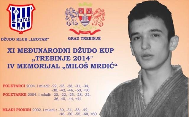 """Trebinje u subotu domaćin XI. Međunarodnog judo turnira """"Miloš Mrdić"""""""