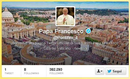 Papa Franjo na Twitteru ima više od 13 milijuna sljedbenika