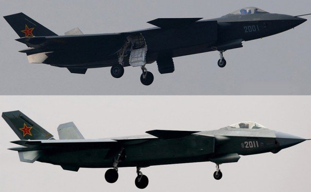 Novi kineski stealth borbeni zrakoplovi J-20