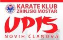 Karate klub Zrinjski Mostar vrši upis novih članova