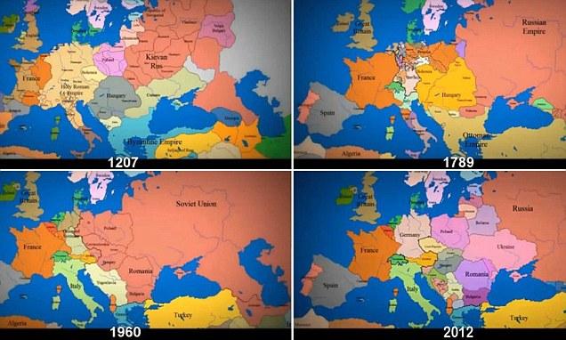 Povijest Europe u proteklih 1000 godina u samo tri minute!