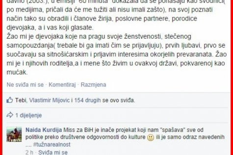 Novinarka najavila dva sata prije proglašenja: Sve je namješteno, Miss BiH će biti kćer Joje sa Pala