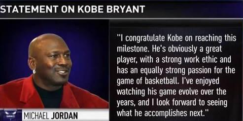 Impresivno: Kobe Bryant pretekao je Michaela Jordana