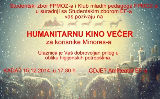 Humanitarna kino večer: Studenti za beskućnike i socijalno ugrožene osobe