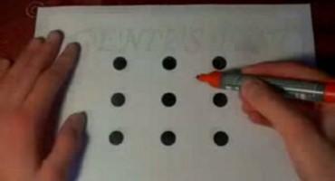 Uspijete li spojiti točke u samo 4 poteza, znači da ste genijalac!