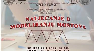 Mostar: Natjecanje u modeliranju mostova 2015