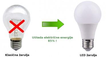 90% uštede i bolja rasvjeta: LED žarulje
