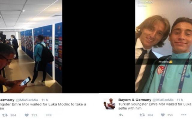 Emre Mor čekao Modrića da dobije selfie