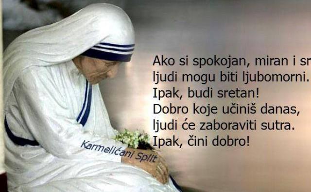 Blažena Majka Terezija bit će proglašena svetom 4. rujna