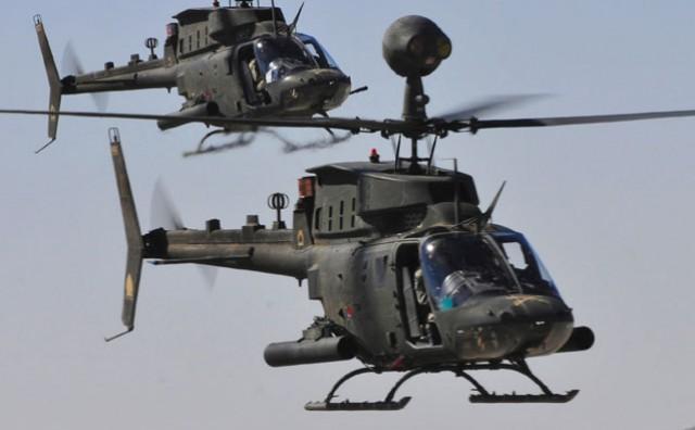 Helikopteri Kiowa Warrior dopremljeni u bazu Zemunik