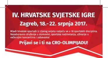 IV HRVATSKE SVJETSKE IGRE Zagreb, 18.-22. srpnja 2017