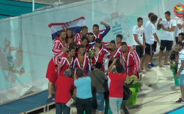 Juniorska vaterpolska reprezentacija Hrvatske postala je prvak svijeta