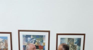FPMOZ: Dekan Vasilj uručio sliku profesoru Šimunu Musi