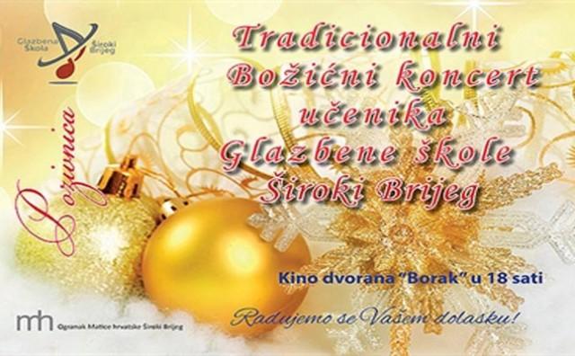Božićni koncert učenika Glazbene škole Široki Brijeg