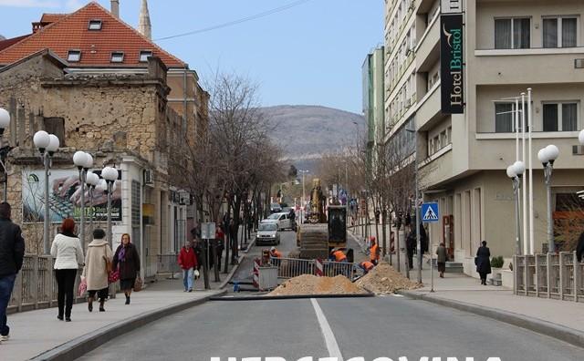 Mostar: Radovi kod hotela Bristol, promet potpuno obustavljen