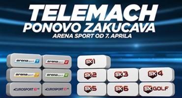 Arena sport kanali od danas i u ponudi Telemacha!