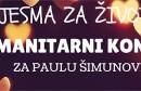 Humanitarni koncert Pjesma za život za Paulu Šimunović