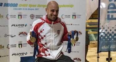 Nikad nitko, do naš čudesni Hrvat Goran Čolak odnio 3 zlata i jedno srebro.