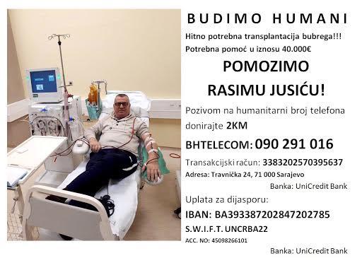 Budimo humani, pomozimo Rasimu Jusiću