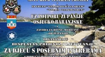 Moto klub Veterani - Croatia: Prijevoz djece s posebnim potrebama na more