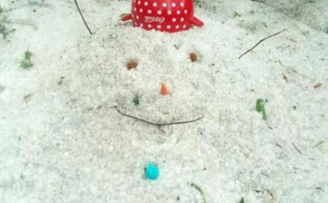 Široki Brijeg: Snješko Bjelić od leda usred ljeta