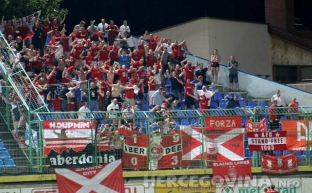 Pogledajte kako su navijači i igrači Aberdeena proslavi prvi gol na Pecari