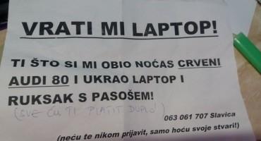 Mostarki Slavici iz vozila ukraden laptop: Drskom lopovu poslala neobičnu poruku