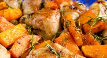 Pečena piletina s hokaido tikvom