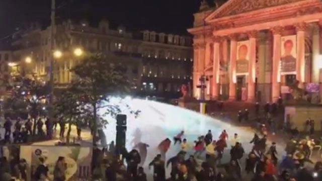 Navijači Maroka napravili kaos u Bruxellesu