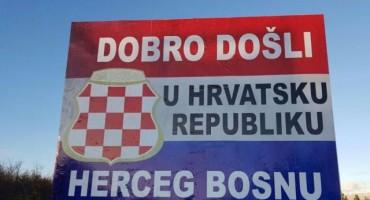 """Veliki plakat na Kamenskom: Dobro došli u Hrvatsku republiku Herceg Bosnu"""""""