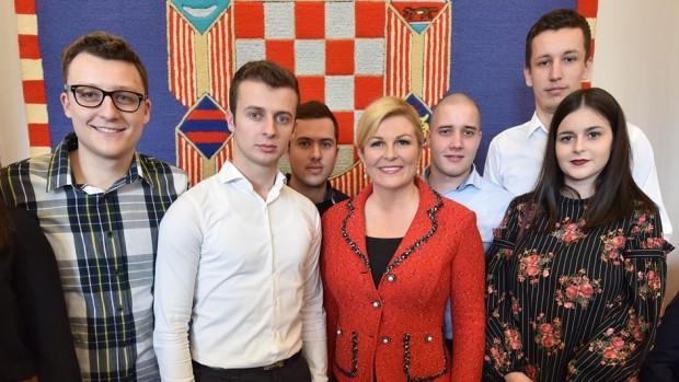 Livanjski studenti kod predsjednice Hrvatske