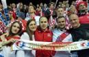 Navijači Zrinjskog iz Mostara uz Hrvatsku reprezentaciju u grotlu Spaladium Arene