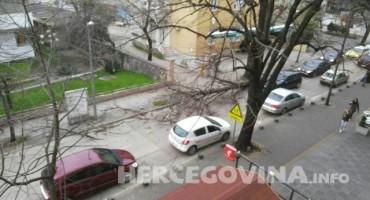 Mostar: Uslijed jake bure stablo palo na prometnicu u centru grada