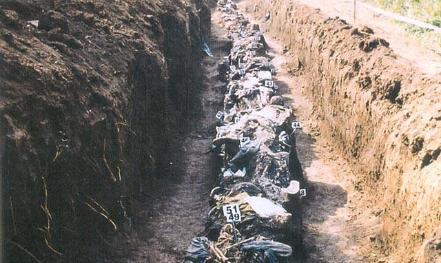 Hrvati mučeni i ubijani s bijelim trakama oko ruku