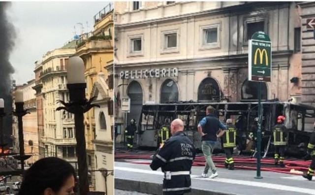 Eksplozija u centru Rima: eksplodirao autobus, u posljednji tren izbjegnuta katastrofa