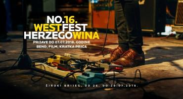 West Herzegowina Fest: Tražimo pjesme, filmove i priče po 16. put