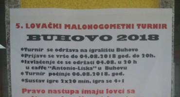 Peti tradicionalni Lovački malonogometni turnir 'Buhovo 2018.'