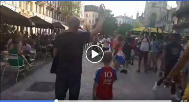 Mali Hrvat 'zapalio' centar Bruxelles-a noseći hrvatsku zastavu