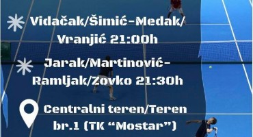 TLRM: Teniski spektakl večeras na terenima TK Mostar