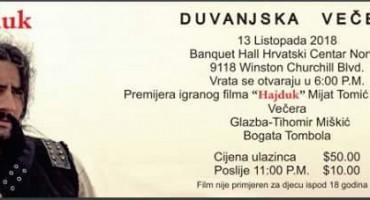 Premijera filma Hajduk  Mijat Tomić u Torontu