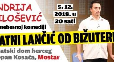 """Glumačka zvijezda Andrija Milošević sa hit predstavom  """"Zlatni lančić od bižuterije"""" ponovo u  Mostaru i Sarajevu"""