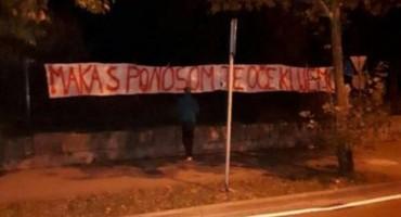U Mostaru osvanuo transparent podrške Marku Radiću