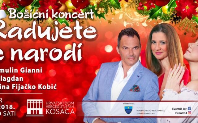 Božićni gala koncert u Mostaru: Ivo Gamulin Gianni uz Valentinu Fijačko Kobić i Maju Blagdan